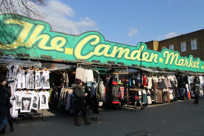 Visiting Camden Market in London, England